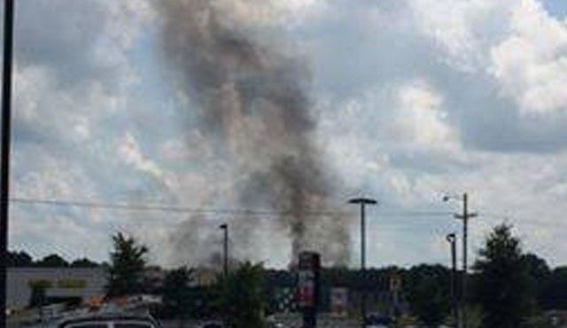 Smoke from a Blue Angel jet crash near Nashville.