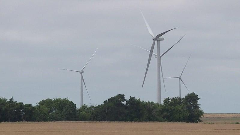 The wind turbine where a worker fell 126 feet July 3.