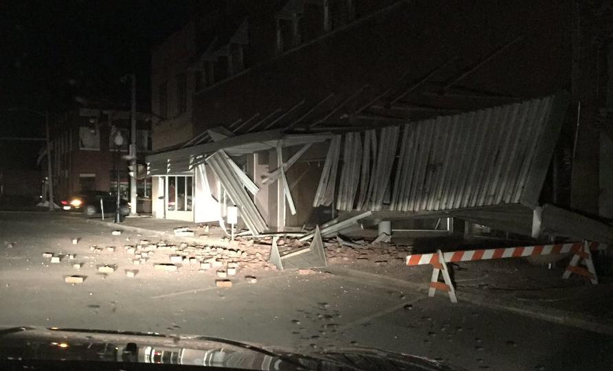 Oklahoma quake  damages buildings