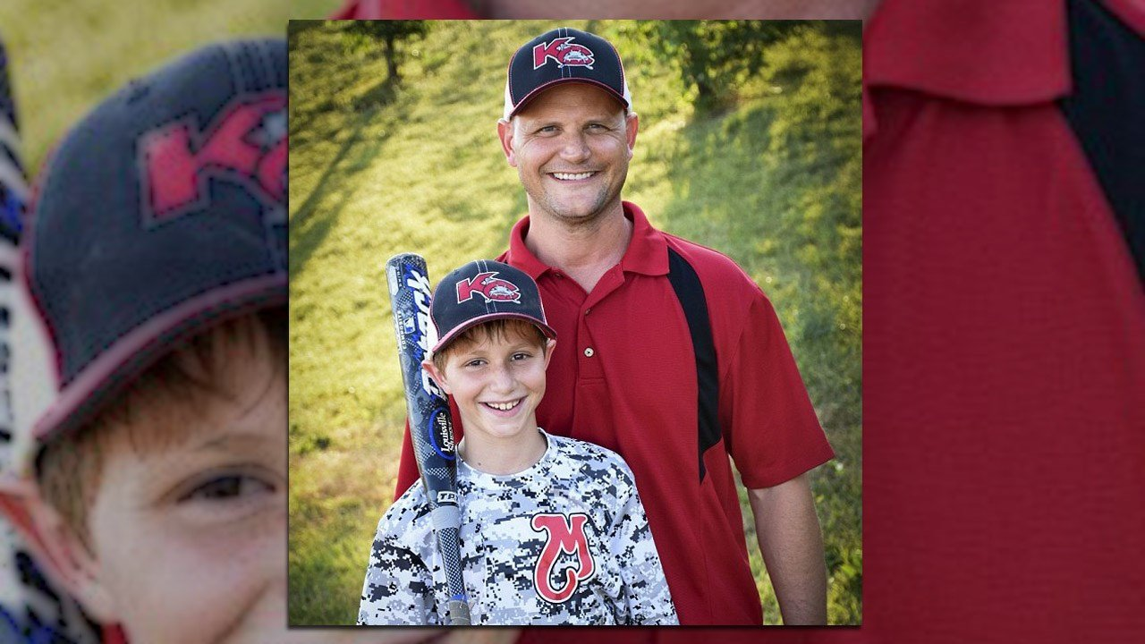 Rep. Scott Schwab with his son, Caleb, who died died on a water slide at Schlitterbahn Water Park.