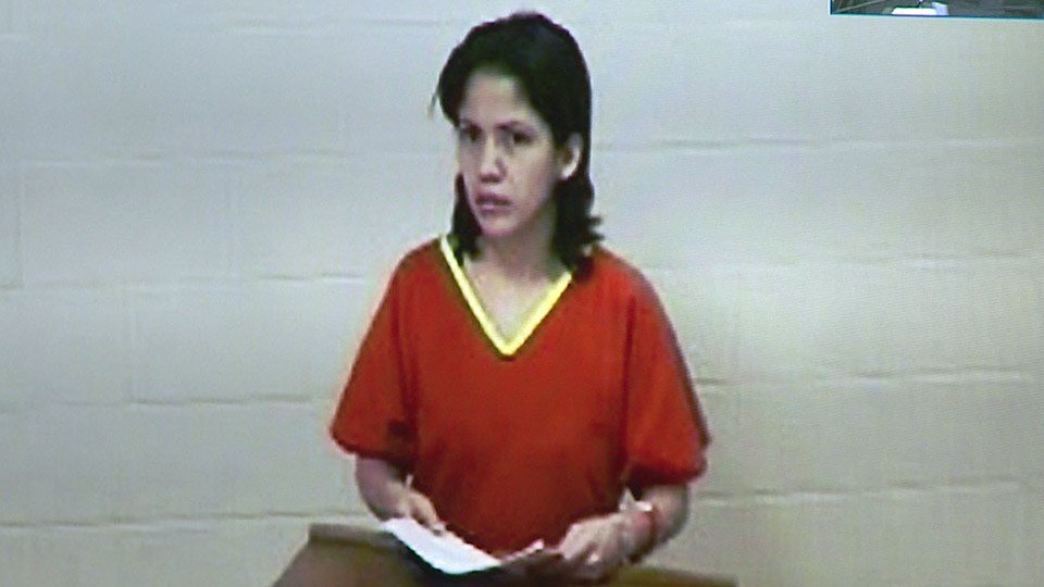 Myrta Rangel appears in Sedgwick County District Court on April 7, 2017