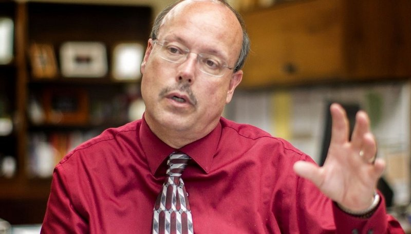 Bill Hall, USD 305 superintendent, discusses the budget on June 7, 2017 | Photo: Emily Starkey/Salina Journal