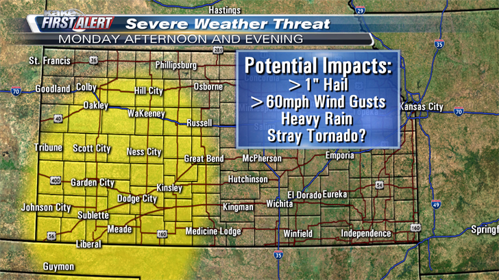 Severe storms expected - Weather Alert Day Tuesday