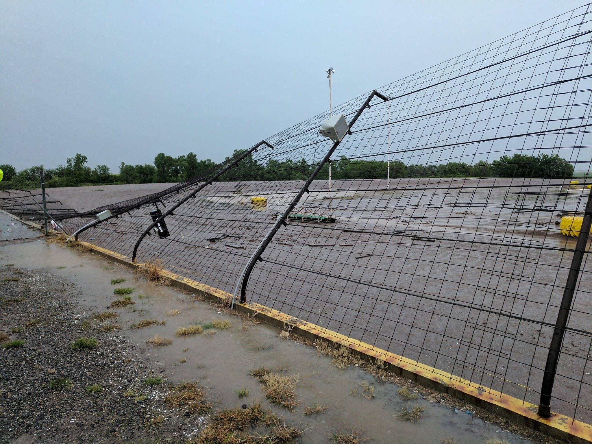 Wind Damage @ Salina Speedway, 5-18-2017