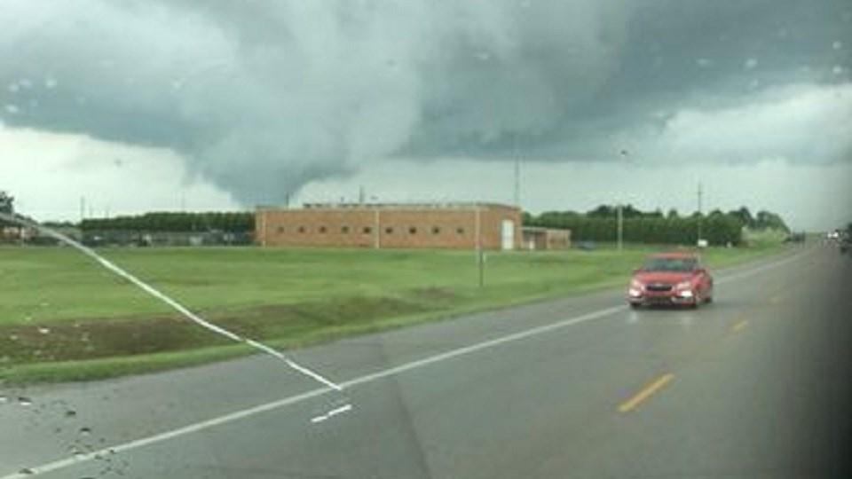 Tornado near Medicine Lodge. Credit: Jennifer Bower