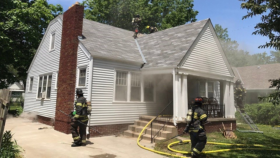 Body found while Wichita crews battle house fire