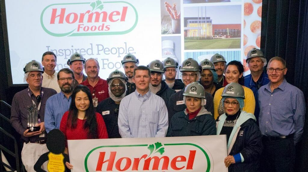 Photo: hormelfoods.com | Dold Foods employees received a Hormel Foods safety award.