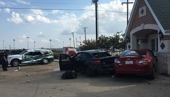 Scene in Hutto, Texas, where Keith Hawkins was taken into custody.