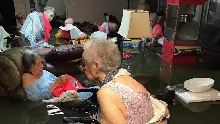 Nursing home residents rescued from floodwaters in Texas