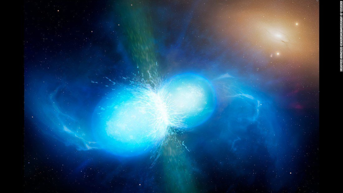 Artist illustration of neutron star collision