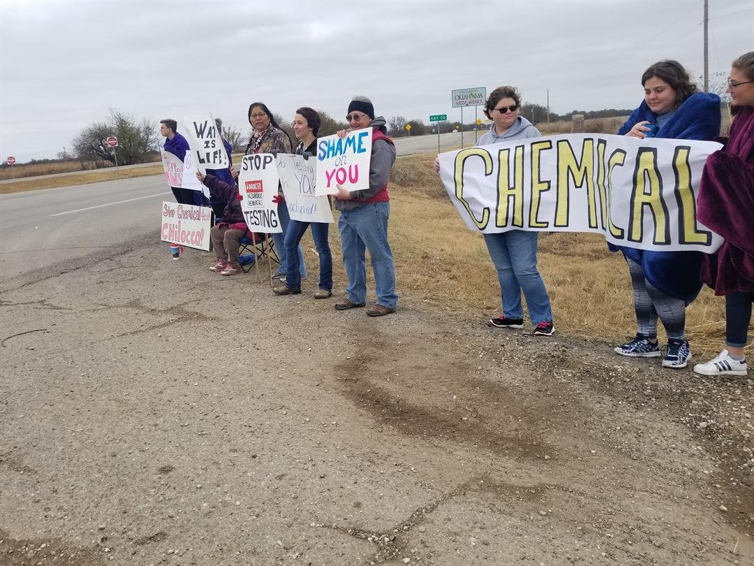 Group protests planned government testing at Chilocco
