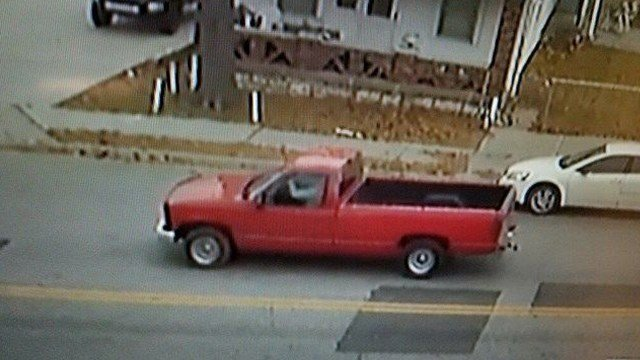 The suspect stole the man's red 1998 Chevy 1500 with Kansas license plate 753 GJK and is believed to be driving it. (KCTV5)