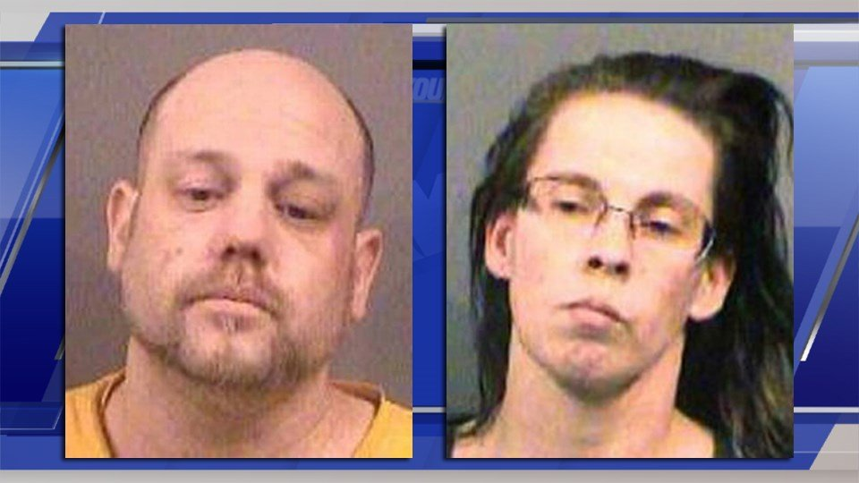 Stephen Bodine (left) and Miranda Miller are held on suspicion of first-degree murder in the death of Evan Brewer.