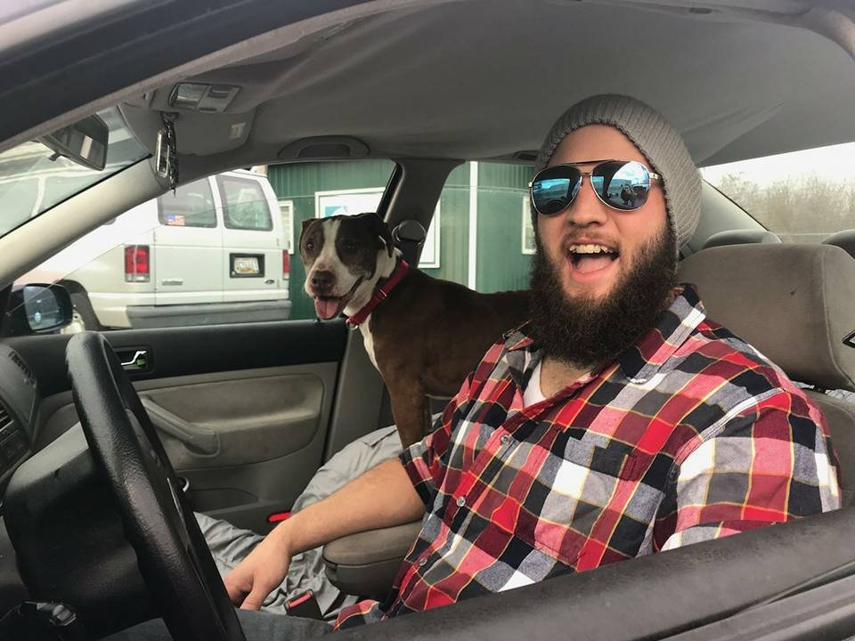 Zach Holt drives Zimba from Maryland to Wichita, KS.