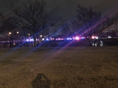 Wichita police chase ends with vehicle  in Arkansas River