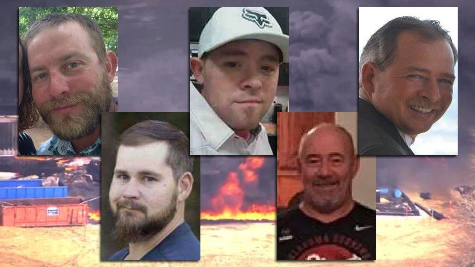 Top from left: Josh Ray, Cody Risk, Roger Cunningham | Bottom from left: Mathew Smith, Parker Waldridge