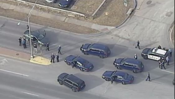 Homicide suspect arrested after a police chase (KCTV)