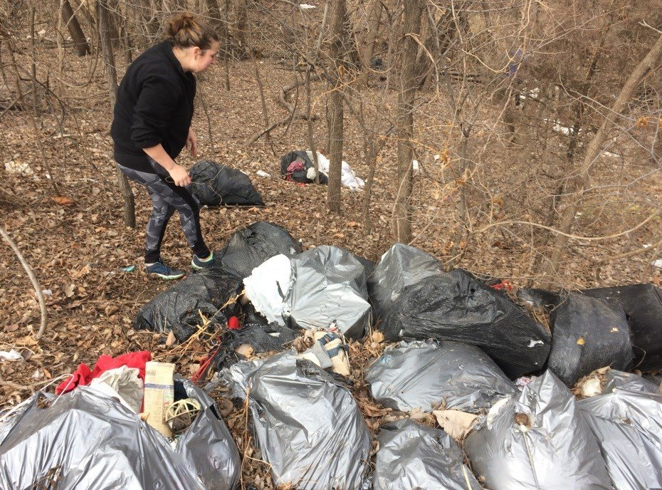 Community members searching Cottonwood Park for Lucas Hernandez on Feb. 28, 2018
