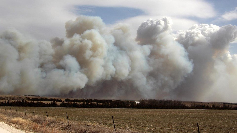Fire near Hays | Courtesy Mark Thiel
