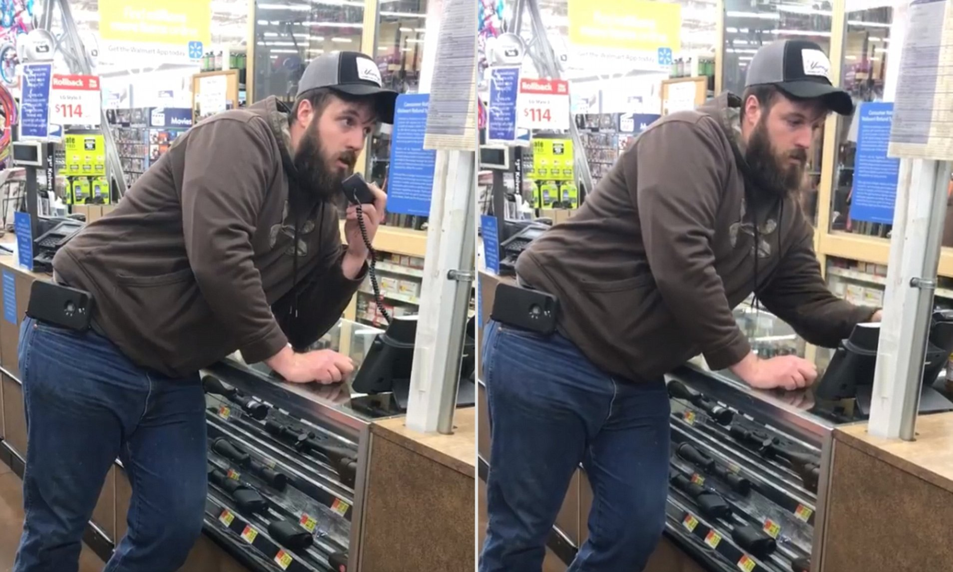 Walmart customer goes viral after using intercom