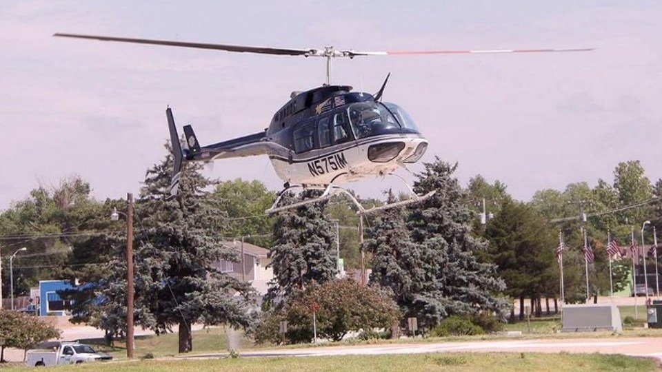 Pratt Tribune | A LifeTeam helicopter lifts off from the Pratt Regional Medical Center to transport a 5-year-old accidental shooting victim to a Wichita hospital.