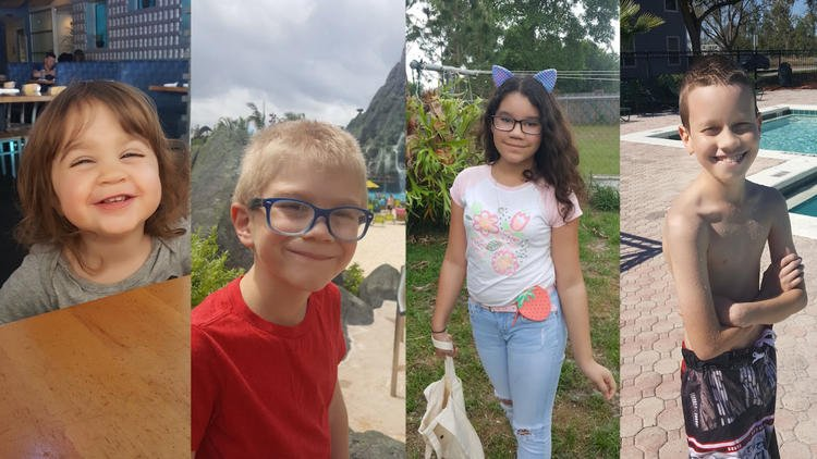 Dove Lindsey, 1; Aidan Lindsey, 2; Lillia Pluth. 10 and Irayan Pluth, 11, were shot and killed Monday after being held hostage by Gary Wayne Lindsey Jr. (Courtesy of López family)