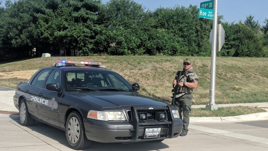 Two workers critically wounded outside Kansas elementary school