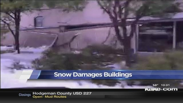 Heavy Snow Causes Building Collapses In Garden City