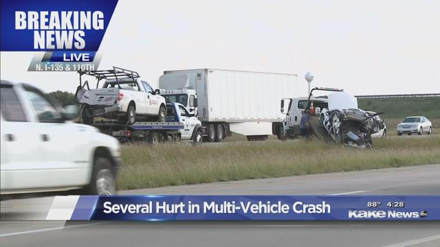 4 hurt in crash on I-135 near Park City