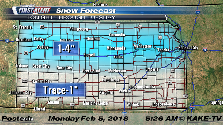 KAKEcom Wichita Kansas News Weather Sports Snow and cold for