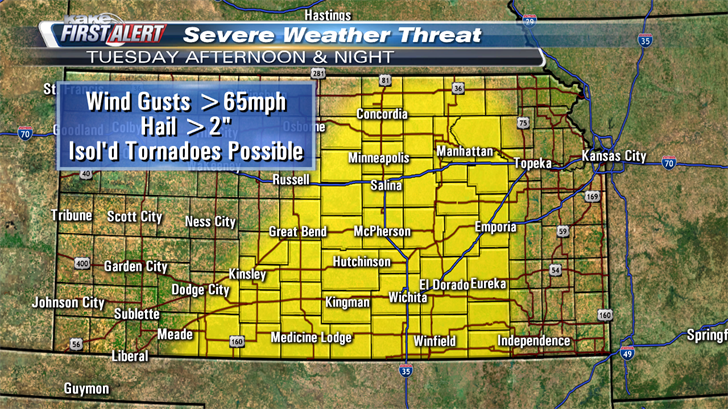 9 News Weather Map.Severe Weather Large Hail Causes Damage In Several Parts Of Kan