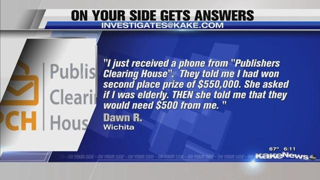 ON YOUR SIDE GETS ANSWERS: Publishers Clearing House scam and pa