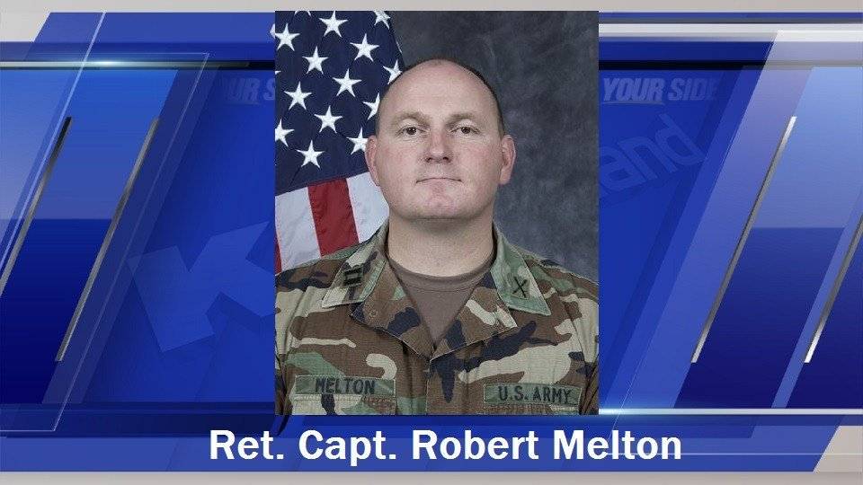 Melton was a retired captain of the Kansas Army National Guard