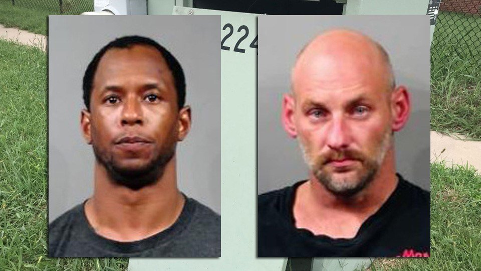 Willie Price, 42, of Valley Center and Christopher Rather, 35, of Wichita, were arrested and booked on several charges.