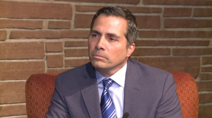 Greg Orman stopped by KAKE studios to answer questions during Monday campaigning.