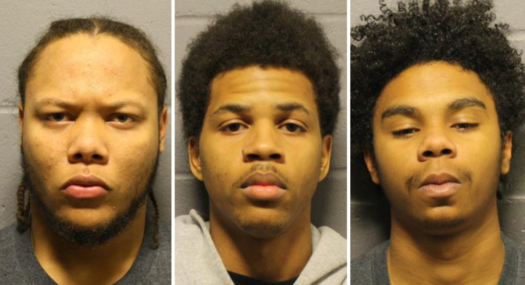 From left: Roberts Jr., Rayton and McMillon (Douglas Co. Sheriff's Office/Lawrence Journal-World)