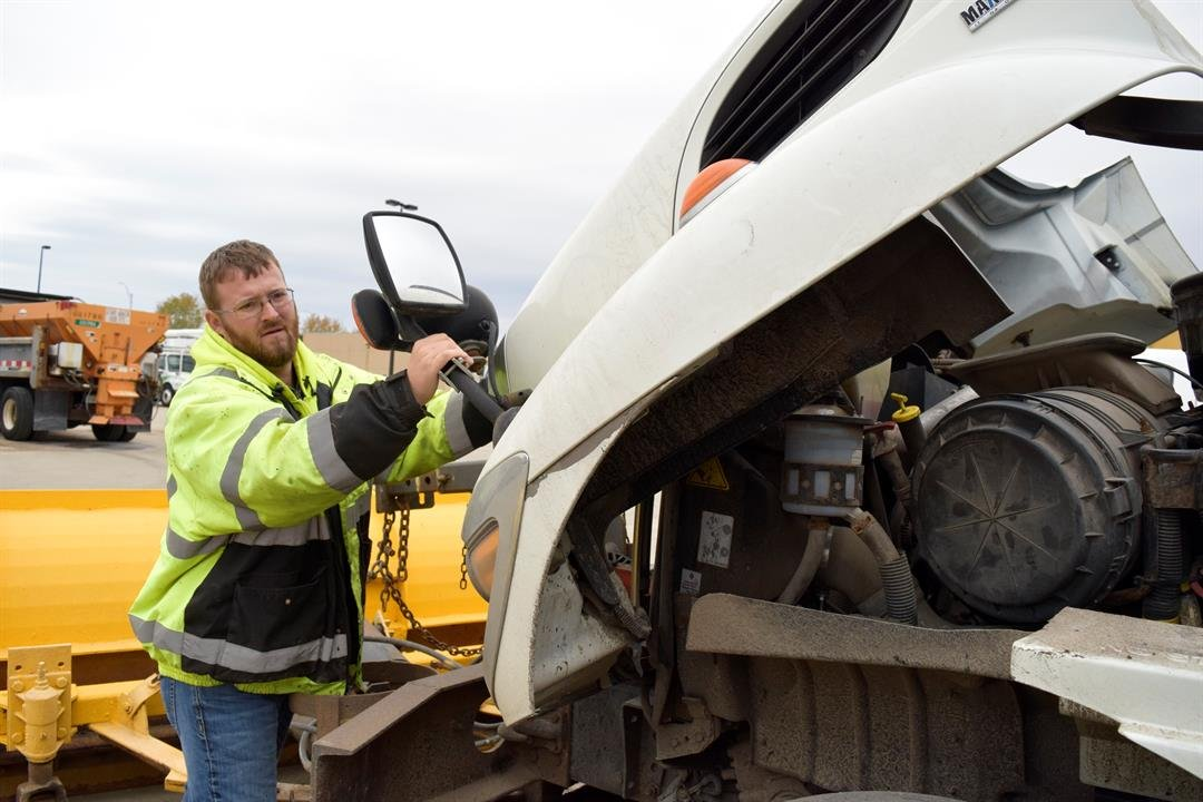Wichita road crews spent Sunday making sure all plows are ready to hit the road when snow starts overnight.