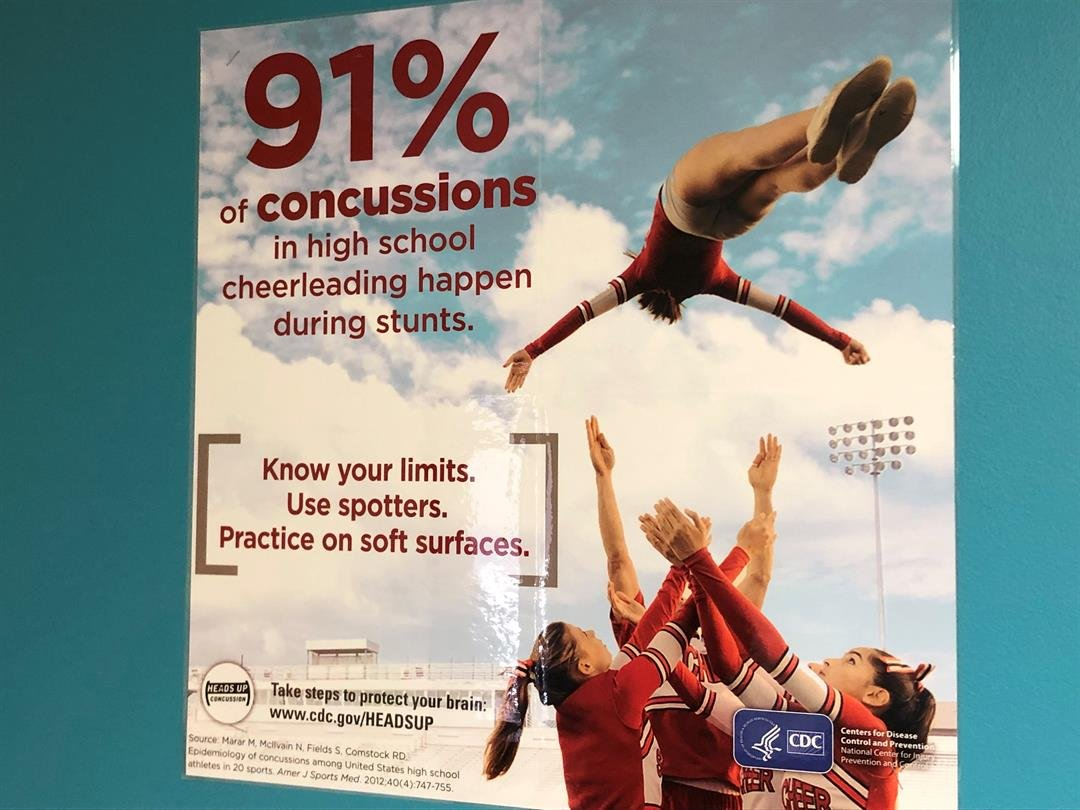 Posters with sports-related concussion statistics cover the walls of every treatment room at the Wesley Pediatric Concussion Clinic.