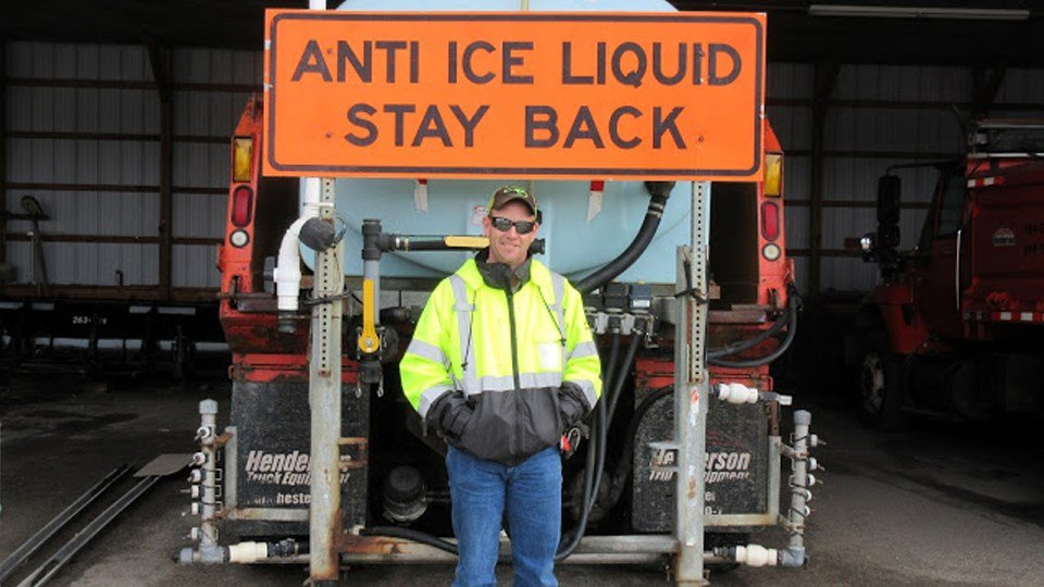 KDOT Highway Maintenance Supervisor, Clyde Thrush helped save the day for one critically ill patient during the weekend snow storm. (Courtesy KDOT)