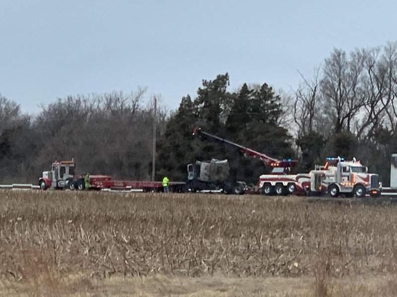 Sedgwick County Sheriff's Deputies say a truck ran a stop sign and hit a semi, engulfing both in flames Wednesday night.  Residents of a nearby home say it took about 14 hours to clear the scene.