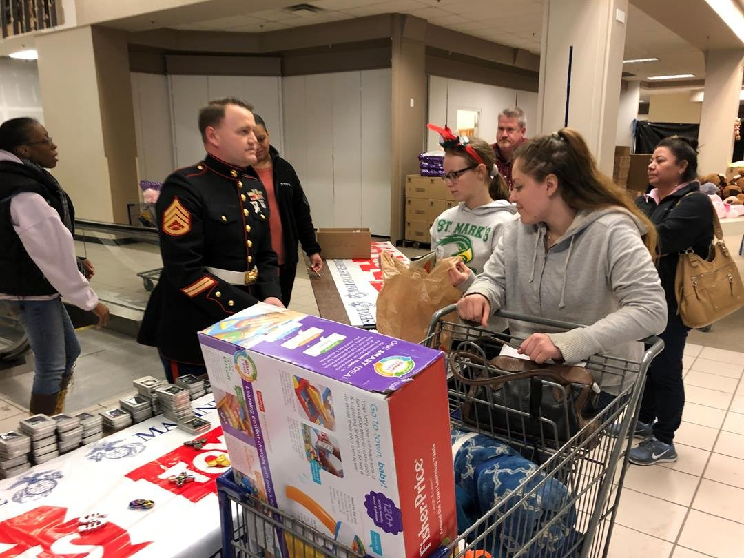Families that qualified for children's gifts from Toys for Tots picked those up as well.
