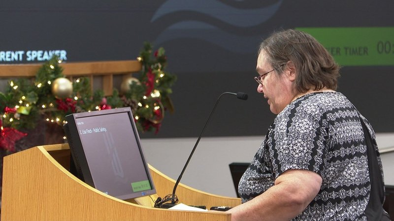 Lisa Finch addresses Wichita City Council on Dec. 18, 2018