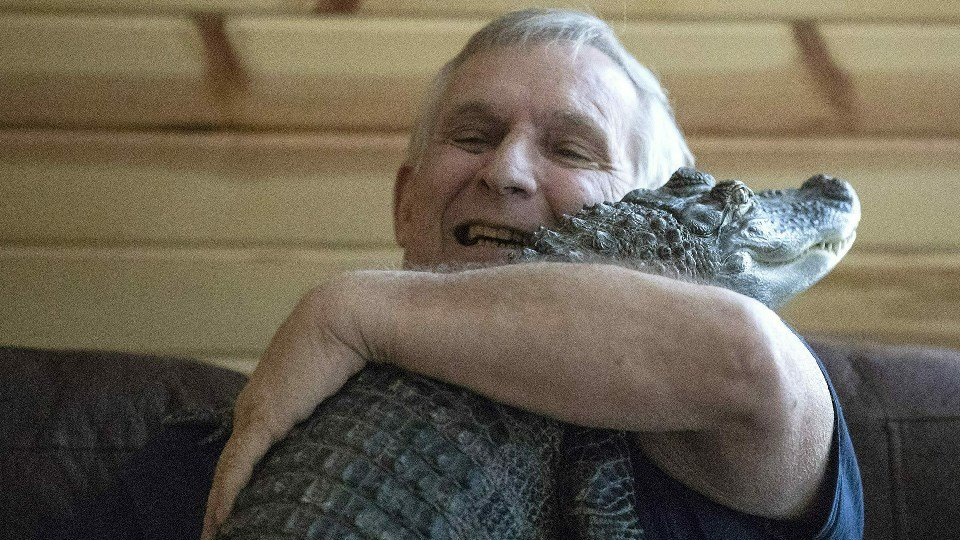 Joie Henney and is emotional support alligator