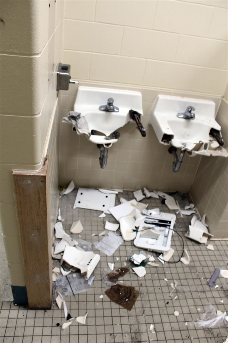 Damage from July 2018 riot at El Dorado prison