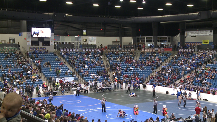 Winter weather poses threat to many visiting for state wrestling championships | KAKE