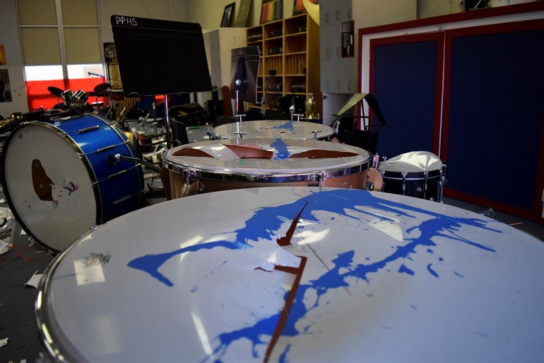 Practically every drum head has a hole in it somewhere.  Koch says this is easily reparable, however.