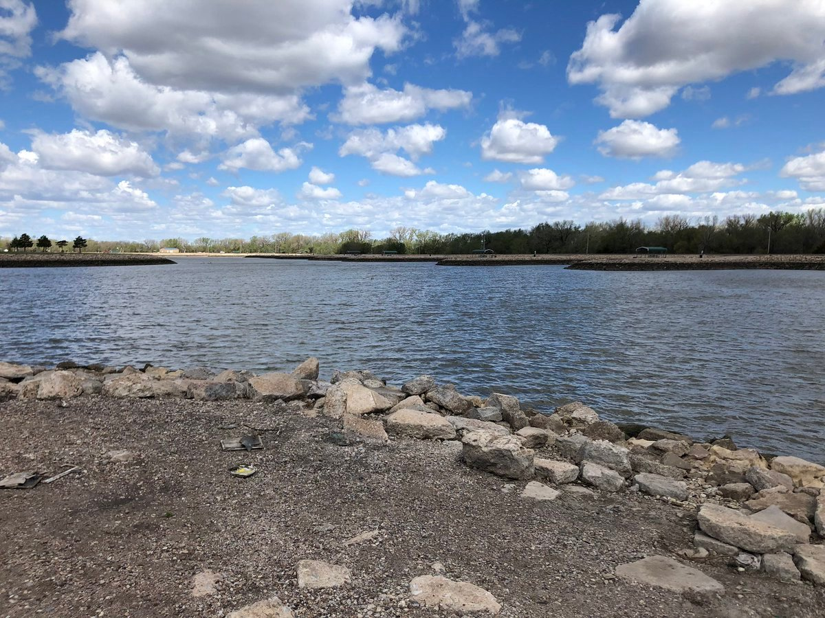 The truck was found off the second to last pier on the southeastern edge of the Pratt County Veterans Memorial Lake.  The sheriff believes it was driven off the island in the middle of the lake with a cinder block holding the accelerator in place.