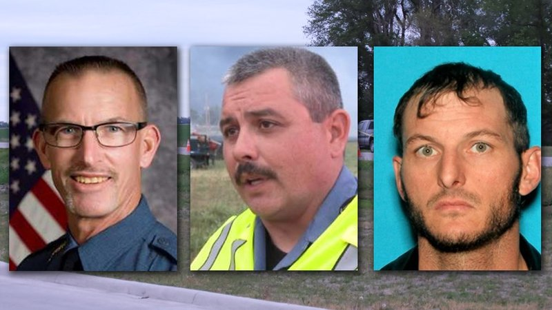 Sheriff Bryant Evans (Left), Undersheriff Chad Murphy, and James Madden