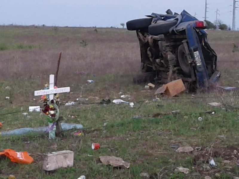 Fatal crash near Sedan on April 28, 2019 happened feet from a cross in memory of a woman killed 10 days earlier (Chautauqua County Times)