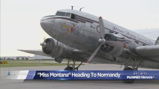 Historic plane headed to Normandy stops in Wichita